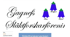 Preview of gagnefsslaktforskarforening.se