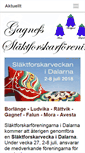 Mobile Preview of gagnefsslaktforskarforening.se